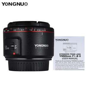 Image 3 - 永諾 YN50mm F1.8 ii 標準プライムレンズ大口径オートフォーカス 0.35 近い焦点距離キヤノン eos 5DII 5 5diii 5DS 5DSR