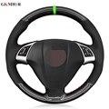 Черная замша из углеродного волокна ручная строчка для Fiat Bravo 2007-2015 Doblo 2010-2015 Opel Combo 2012