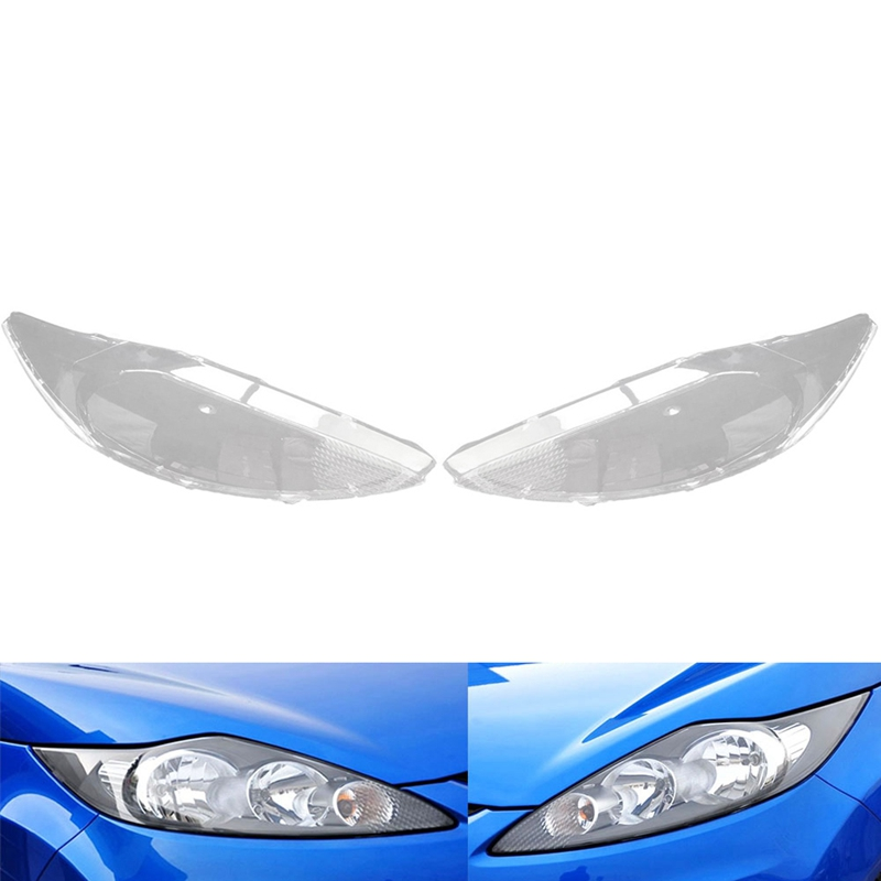Car Front Headlight Head Light Lamp Cover Head Light Lamp Clear Lens Shell Cover Replacement For Ford Fiesta 2009-2012