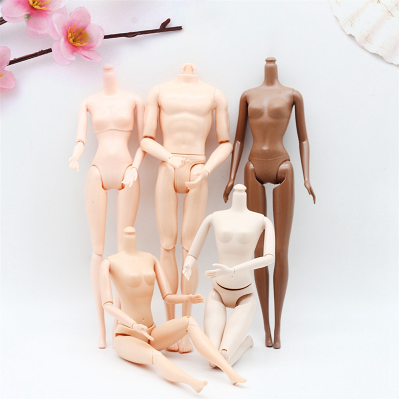 1Pcs 29cm Jointed DIY Doll Body Without Head DIY Movable Nude Naked Doll Body For Doll Toys For Children Gifts