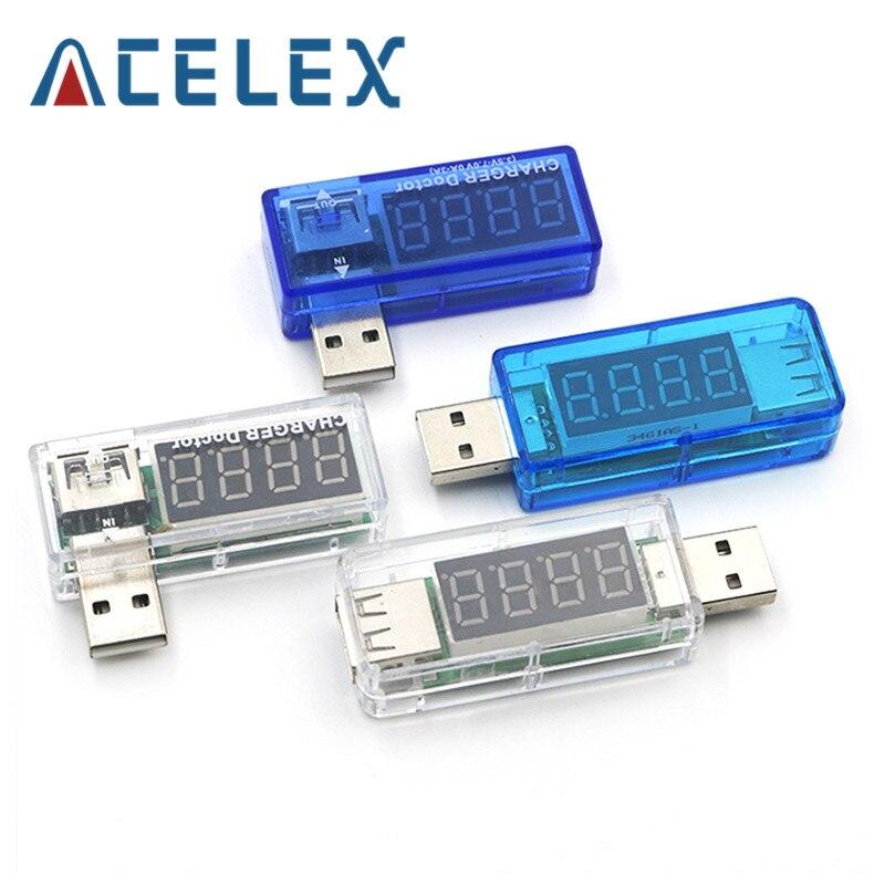 Цифровой USB мобильный мощность зарядки Ток Напряжение тестер метр мини USB зарядное устройство Доктор Вольтметр Амперметр поворот прозрачны...