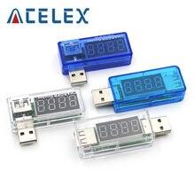 Digital usb de carregamento de energia móvel tensão atual testador medidor mini carregador usb doutor voltímetro amperímetro virar transparente
