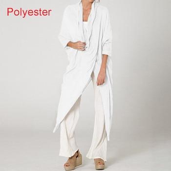 Plus Size Women Tops and Blouse 2021 Celmia Autumn Vintage Long Blouses Casual Cowl Neck Long Sleeve Asymmetric Party Blusas 5XL 7