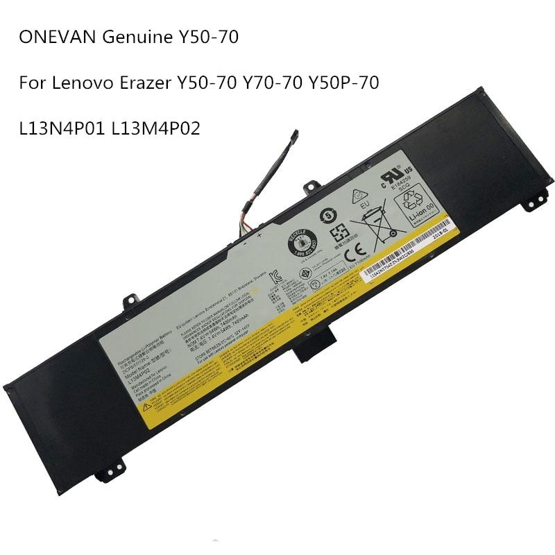 ONEVAN Original Y50-70 Laptop Battery For Lenovo Y50-70 Y70-70 Y70 121500250 Tablet Replace L13M4P02 L13N4P01 L13M4P02