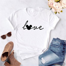 Love mouse Print Women Tshirt Cartoon Cute Casual Funny t sh