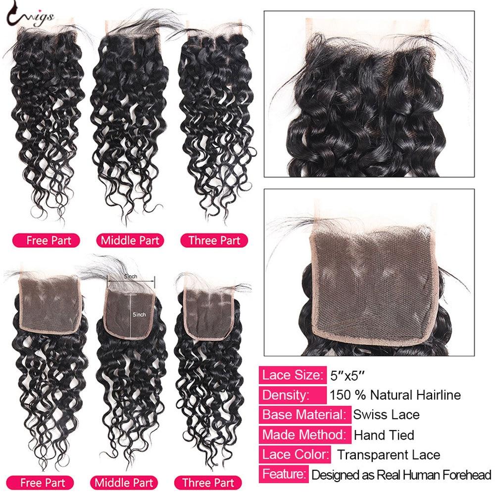 laco perucas de cabelo humano para preto 02