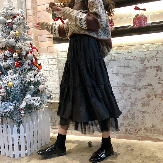 Long Skirt With Lace Ruffles  4