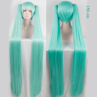 WTB Synthetic Wigs VOCALOID Cosplay Wig Hatsune Miku Costume Play Wigs Halloween Party Anime Game Hair Aquamarine Wig Cosplay