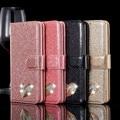 Coração de Diamante Glitter Carteira Virar Casos de couro Para o iphone 5se 6s 5SE 6S G Caso Para o iphone Telefone tampa Traseira Protector Shell 6S