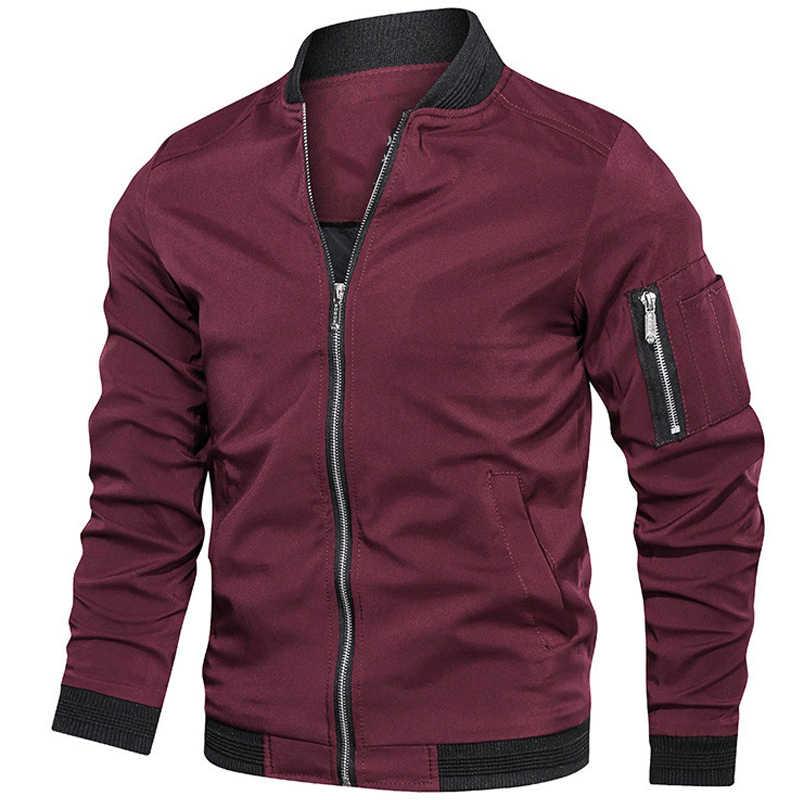Frühling Herbst Jacke Männer 2019 herren Bomber Jacke Casual Streetwear Herren Jacken und Mäntel Neue Mode Armee Freien Kleidung