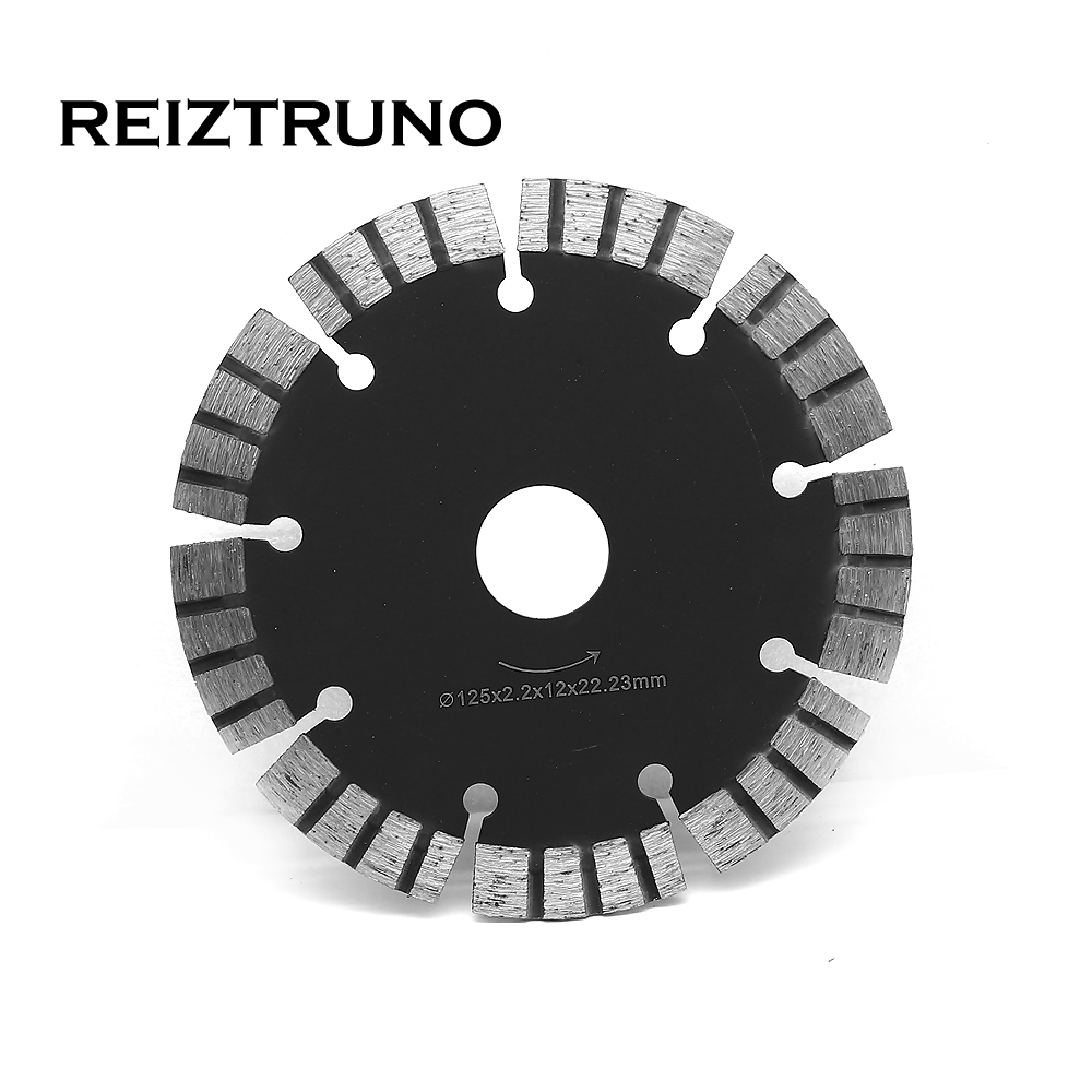 REIZTRUNO 125mm Diamond Saw Blade Hot Pressed Diamond Turbo Segmented Blade For Marble Concrete Sandstone Granite Dry Or Wet Use