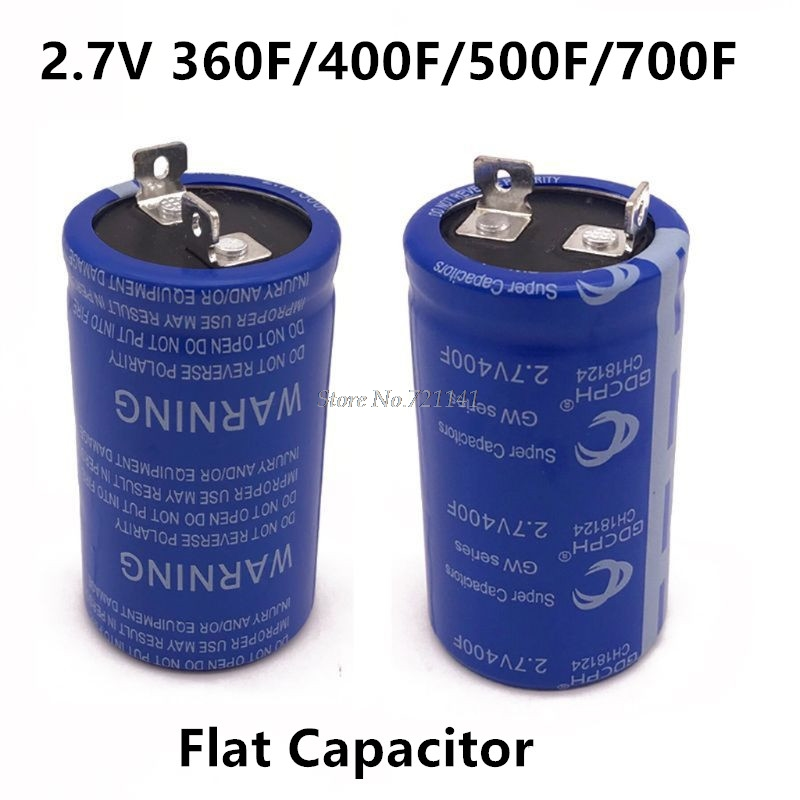 <font><b>Super</b></font> Farad <font><b>Capacitor</b></font> <font><b>2.7V</b></font> 360F <font><b>400F</b></font> 500F 700F High Frequency Low ESR Flat Feet Single <font><b>Capacitor</b></font> for Car Electronic Components image