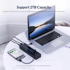 Image 4 - ORICO P10 U3 USB HUB 10 Ports USB3.0 HUB With VL812 12V3A External USB Splitter Adapter usb hub 3.0 for PC Laptop