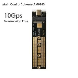Image 2 - EZCAST NVME M.2 case M.2 to rodzaj USB C 3.1 Adapter SSD dla NVME SATA M klucz M/B klucz Pcie Nvme m.2 obudowa ssd