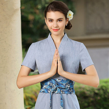 Autumn winter hairdressing master work clothes Thai SPA health club reception dress