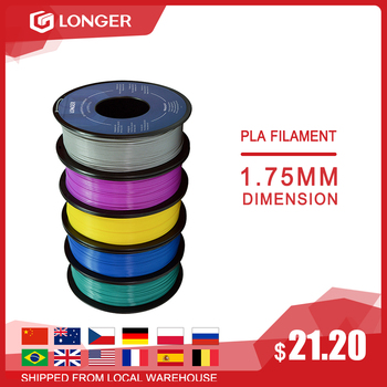 LONGER PLA Filament 1.75mm PLA For 3D Printer 1KG per Roll PLA Material for 3D Printing filamento pla 3d printer filament