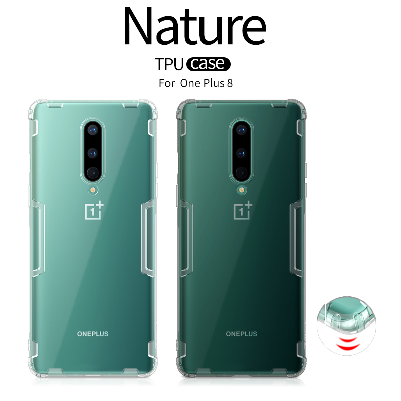 For Oneplus 8 Case One plus 8 Cover NILLKIN TPU Transparent Airbag Shockproof Silicon Clear Soft Back Case