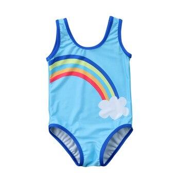 Bañador de arco iris, conjunto de Bikini para chico y niña, traje de baño, ropa de playa, 1 Uds. Talla 1-6T
