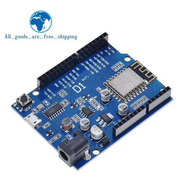 TZT Smart Electronics ESP 12F WeMos D1 WiFi uno based ESP8266 shield for arduino Compatible IDE