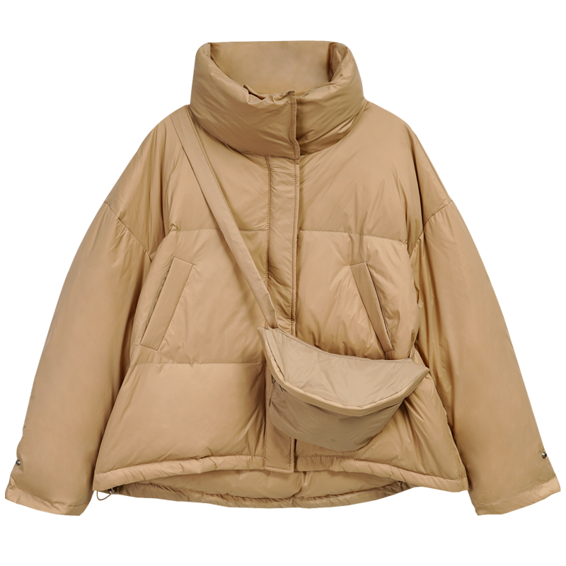 Fitaylor/зимнее женское пальто, белая парка на утином пуху, короткая куртка-пуховик цвета хаки, теплое пальто