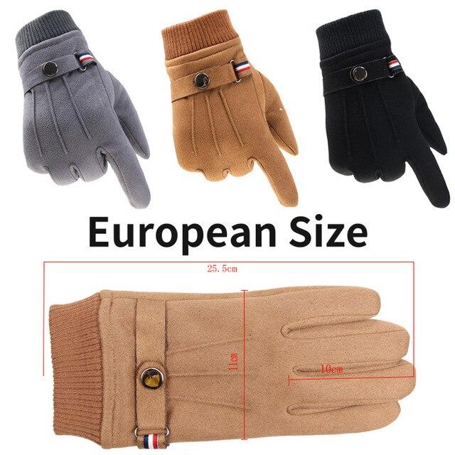 Winter Suede Men's Gloves  2