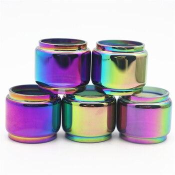 5pcs YUHETEC Rainbow Bubble Glass TUBE for GEEKVAPE ZEUS rta 4ML/Zeus Dual RTA 4ml/ZEUS X 3.5ml/Zeus Sub Ohm Tank 3.5ml mesh