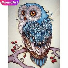 MomoArt Diamond Painting Owl Mosaic Cross Stitch Full Square/round Embroidery Animal Wall Decor