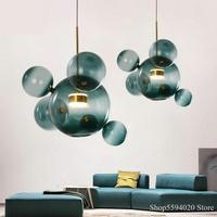 Modern Bubble Ball Glass Mickey Pendant Lights LED Loft Hanglamp Industrial Lamp for Home Kitchen Lighting Hanging Light Fixture