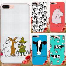 Aninal Hippo Cow For Samsung Galaxy Note 5 8 9 S3 S4 S5 S6 S7 S8 S9 S10 5G mini Edge Plus Lite Cartoon Pattern Phone Case(China)