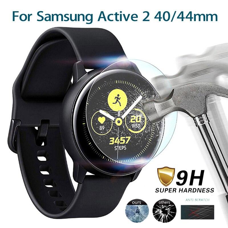 Закаленное стекло для Samsung Galaxy Watch Active 2 40 44 мм, Защитное стекло для экрана, Ультратонкий чехол для часов с защитой от царапин