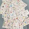 10 листов тату наклейку стильная футболка с изображением персонажей видеоигр детская один-Татуировка с часами наклейки макияж наклейки тат...