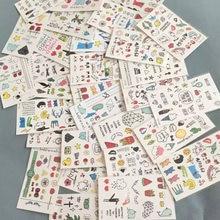10 folhas tatoo adesivo bonito dos desenhos animados crianças uma vez tatuagem adesivos make-up tatuagens disponíveis corpo braço testa