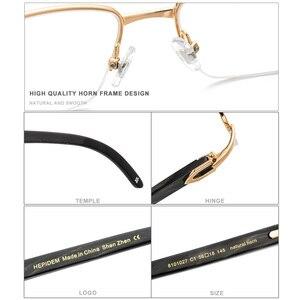 Image 3 - HEPIDEM gafas cuadradas de alta calidad para hombre y mujer, anteojos con montura de cuerno de búfalo, graduadas, de lujo, 8101027