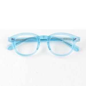 Image 4 - جوني ديب نظارات الرجال النظارات البصرية الإطار النساء العلامة التجارية تصميم خلات خمر الكمبيوتر النظارات جودة عالية Z088