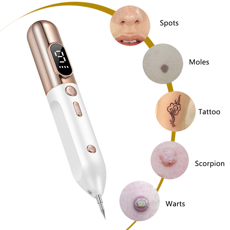 Newest Laser Plasma Pen Mole Tattoo Freckle Wart Tag Removal Pen Dark Spot Remover For Face LCD Skin Care Tools Beauty Machine