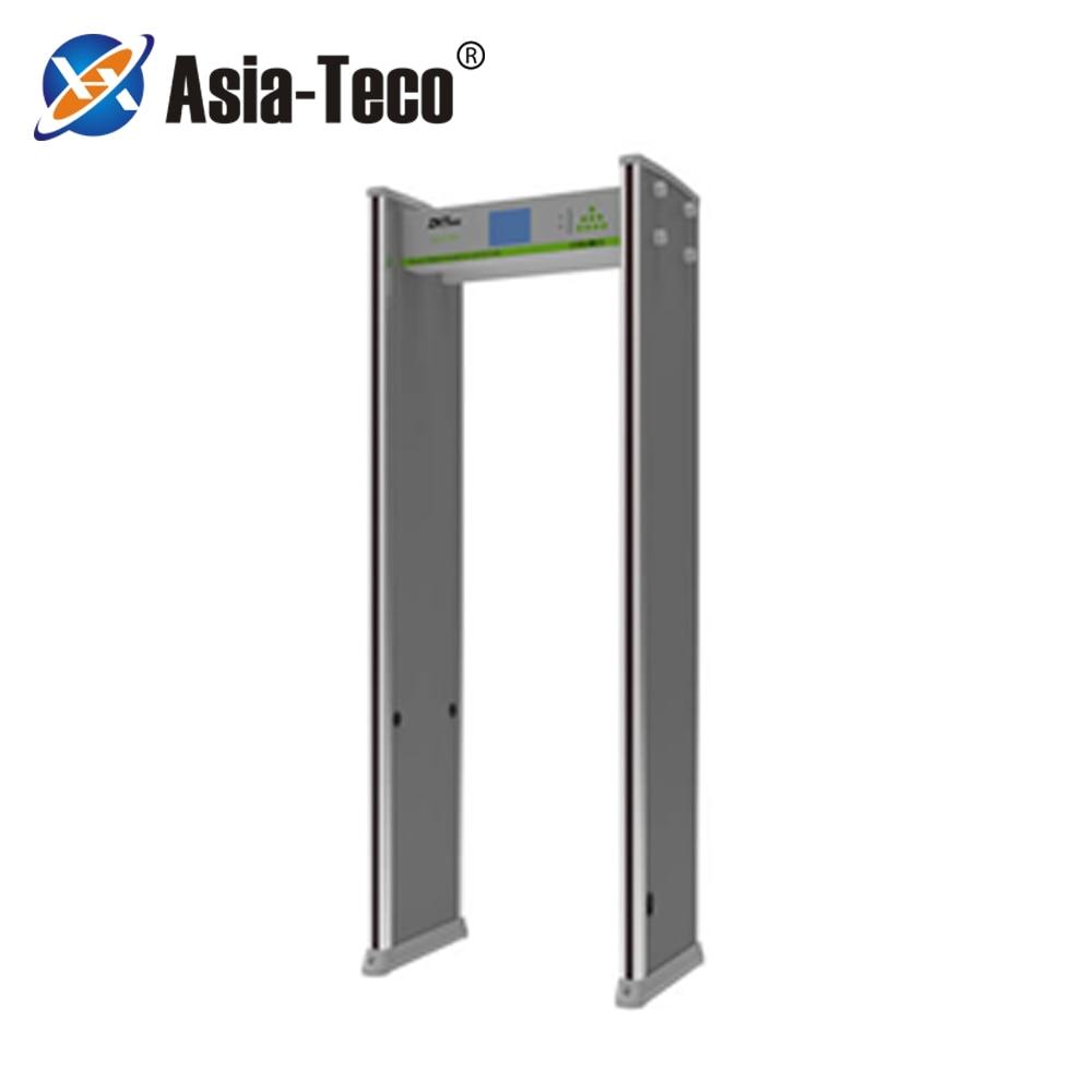 """ZK D83180S 5.7""""  LCD Temperature Detection Door Walk Through Metal Detector Door Scanner Temperature Measurement Security Door"""