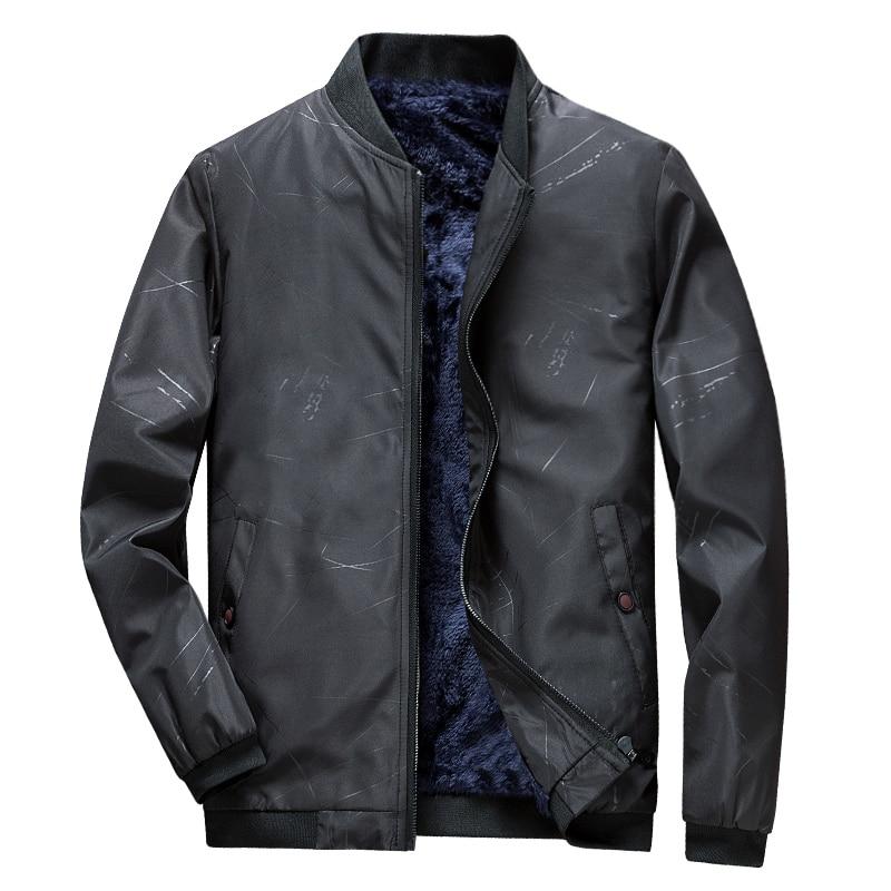 2019 Mens Jacket Winter Casual Coats Warm Bomber Zipper Jacket Men Thicken Slim Outwear Coat Male Brand Windbreaker Veste Hommes