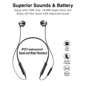 Image 2 - Picun H12 Wireless Earphone Bluetooth Headphone Magnetic Neckband Sports Earphones 20H Playback Headset for iPhone Xiaomi PC