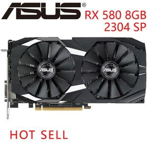 ASUS-carte graphique RX580, 8 go GDDR5, 256 bits, VGA 500, compatible AMD RX série 580, DisplayPort HDMI, DVI