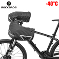 ROCKBROS Bar Mitts снегоходы/Квадроциклы/велосипедные митенки для езды на велосипеде с теплой флисовой подкладкой MTB руль ветрозащитные зимние пер...
