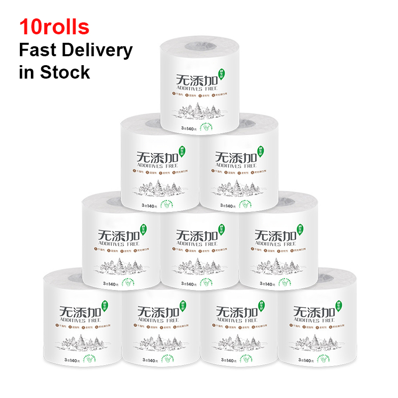 Toilet Paper Ultra-Strong 10 Rolls 4-Ply Ultra-Soft White Toilet Paper Value Size Advanced Rolls Soft Home Kitchen Toilet Tissue