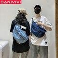 Новая джинсовая сумка через плечо для девочек, сумки через плечо унисекс для женщин 2020, вместительная сумка-мессенджер, сумки для женщин