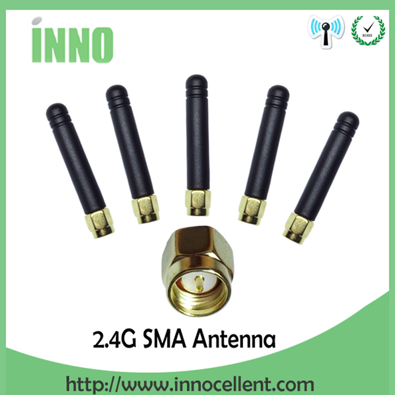 20pcs/lot wholesale 2.4GHz antenna wifi SMA Male connector 2~3dbi wifi antenna 2.4 ghz antenne antena Small size wi fi aerial