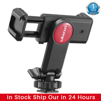Ulanzi-Fijación de montura de trípode para teléfono móvil, adaptador de Monitor ajustable de Disparo Vertical para iPhone 12 11 Pro Max Android, ST-06