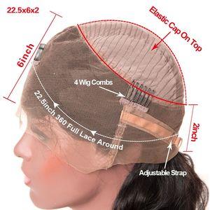 Image 5 - Парики из натуральных волос на фронтальной основе, 360
