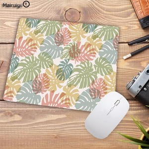 Image 3 - Mairuige tapis de souris pour Gamer, motif Tropical, feuilles et fleurs, pour clavier de bureau, tablette, pour ordinateur, jeu Lol, Csgo
