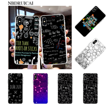 NBDRUICAI Symbol Math Science Physics Formulas Black Phone Case Cover for iPhone 11 pro XS MAX 8 7 6 6S Plus X 5S SE XR cover(China)