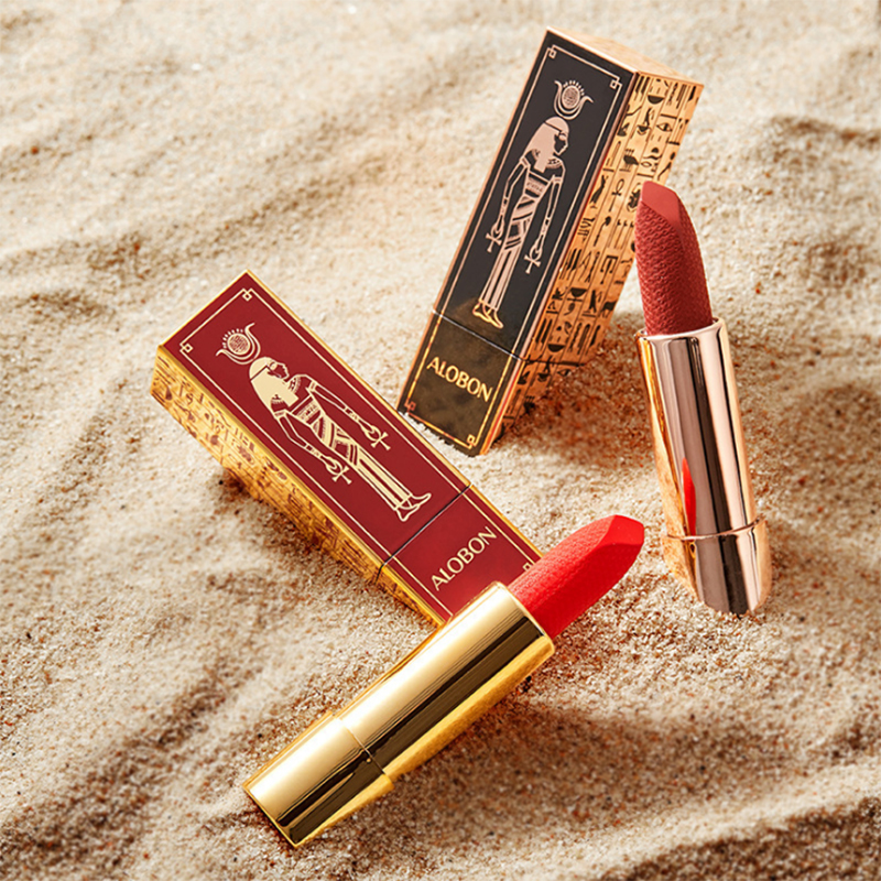 Matte Velvet Texture Lipstick Water Color Lock Moisturizing Lipstick Easy To Color Non-stick Cup Egyptian Style Makeup