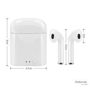 Image 5 - 2020 I7S TWSมินิบลูทูธไร้สาย5.0หูฟังหูฟังกีฬาหูฟังแฮนด์ฟรีชุดหูฟังพร้อมกล่องชาร์จสำหรับโทรศัพท์ทั้งหมด