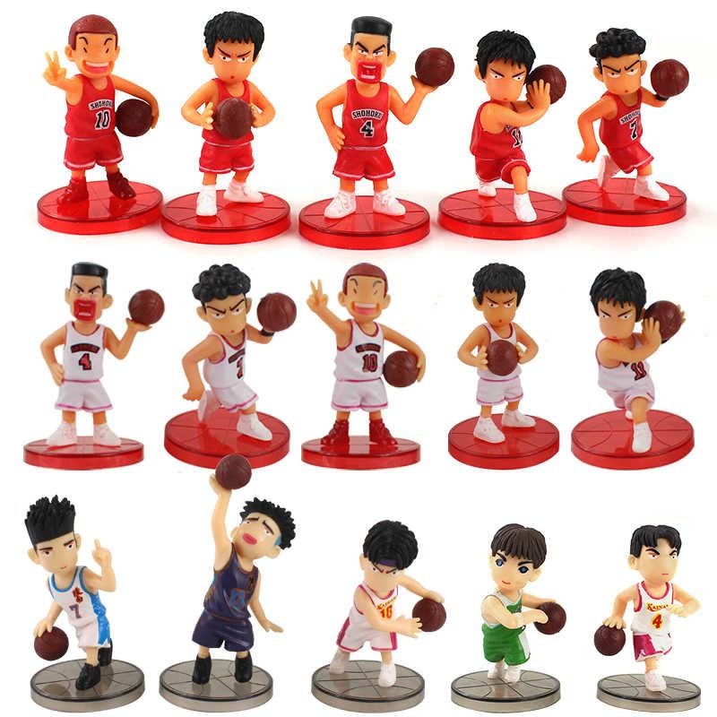 15 unids/set de Figuras de Anime japonesas Slam Dunk PVC, Figuras de acción para adultos, muñecas calientes, juguetes de Navidad para niños, juguetes de cumpleaños para niños